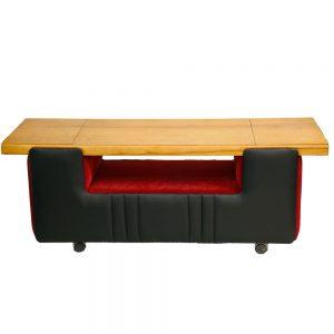 vintage stolik, ława, barek na kółkach, lata 60.