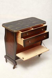 mobilny stolik retro, gazetnik, szafka, mid-century modern, prl, lata 60.