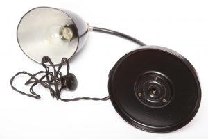 vintage, bauhaus, hala, lampa biurkowa, lata 30.