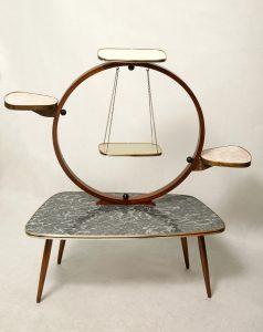 retro kwietnik, pomocnik, stolik kawowy, lata 60.