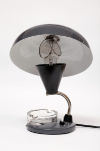 polska lampka biurkowa retro, lata 50.