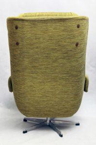 retro, uszak, fotel klubowy obrotowy, lata 80.