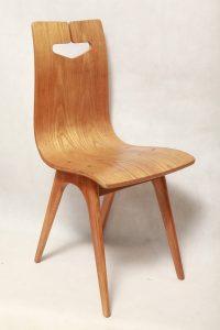 drewniane krzesło hałas, prl,, ikona, design,  lata 60.
