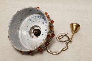 retro ceramiczna lampa, Dania, lata 60.