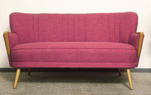 mid-century modern, dwuosobowa sofa retro, lata 60.