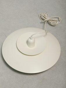 Jasno kremowa lampa PH5, Louis Poulsen, Dania, lata 60