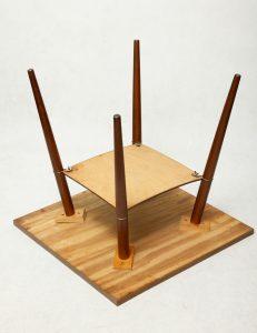 prl, stolik kawowy retro, lata 60.