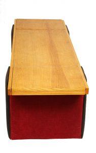 vintage stolik, ława, barek na kółkach, lata 60