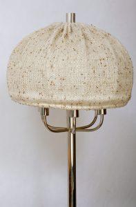 vintage, lampa stojąca, podłogowa, chromowana, lata 80.