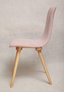 retro, vintage, tapicerowane, krzesło giete, polska, lata 60.