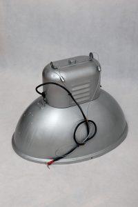industrialna polska lampa vintage, lata 80.