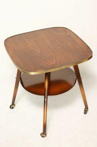 mobilny, obrotowy stolik kawowy retro. lata 60.