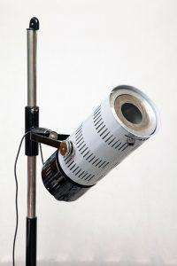 industrialna lampa medyczna, podłogowa, prl, lata 80.