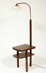 lampa podłogowa art deco, lata 50.