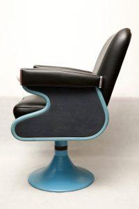 fotel fryzjerski Wella, art deco, lata 50.