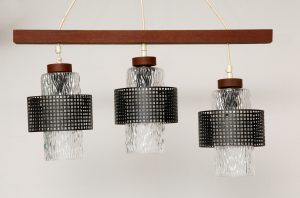 retro, vintage, scandinavian, lampa sufitowa, mid-century modern, prl, żyrandol, lata 60.
