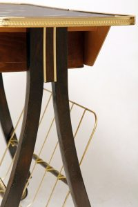 stolik retro pomocnik, gazetnik, mid-century modern, lata 60.